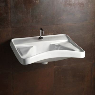 LAVABO PER DISABILE ALICE CERAMICA SERIE CONFORT