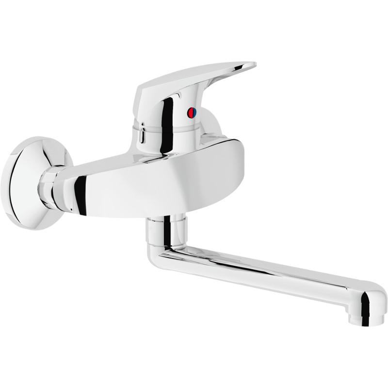 Miscelatore lavello a parete nobili modello hera - Miscelatore a parete bagno ...